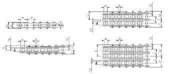 08b Roller Chain Dimensions Iso R606 Fbkc
