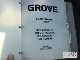 Grove Rt760 Load Chart 2008 Grove Rt760e Rough Terrain Crane In Prairieville