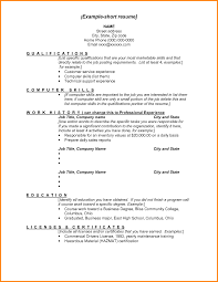 Short Cv Templates 9 Example Of A Short Cv Penn Working Papers