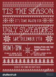 ugly christmas sweater party invitation template stock vector ugly christmas sweater party invitation template