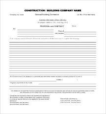 General Contractor Estimate Template