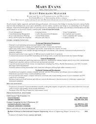 Event Planning Resume Template Luxury Seniorger Job Description