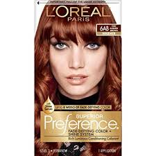 Loreal Paris Superior Preference Fade Defying Shine Permanent Hair Color 6ab Chic Auburn Brown Pack Of 1 Hair Dye