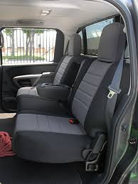 nissan titan standard color seat covers rear seats