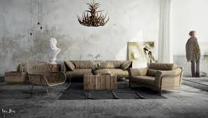 colorful contemporary modern industrial. Livingroom:Rustic Modern Living Room Design Contemporary Decorating Designs Decor Dark Colored Linen Sofa Oak Colorful Industrial G