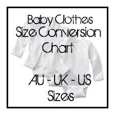 Baby Clothes Size Chart European Convert Baby Clothes Size Chart American Australian