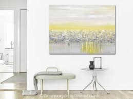 yellow and gray canvas wall art improbable giclee print grey abstract painting modern coastal home design on grey and yellow wall art nursery with yellow and gray canvas wall art superhuman baby girls nursery grey