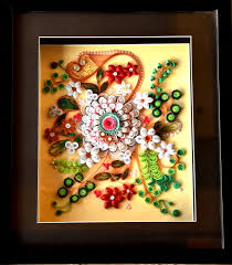 Paper Quilling Flower Frames Buy Paper Quilled Flower Art Handmade Painting By Sarika Bhutare