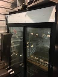 true gdm 45 glass 2 door sliding glass beverage cooler refrigerator merchandiser