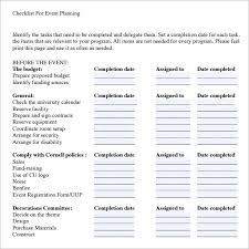 Event Planning Checklist Pdf 13 Event Planning Checklist Template Free Sample Example Format