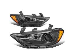 Check spelling or type a new query. Dna Motoring Hl Oh Hel16 Bk Am For 2017 To 2018 Hyundai Elantra Pair Factory Style Black Housing Amber Corner Projector Headlight Headlamps Newegg Com