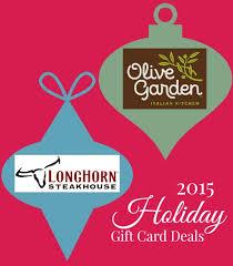 2016 holiday gift card deals at olive garden longhorn steakhouse