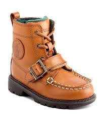 polo ralph lauren boys ranger high ii burnished leather casual boots