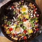 black bean  egg   corn casserole