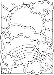 Kleurplaat Zon Wolk Regenboog Tekenen Kleurplaten Mandala