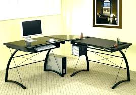 wood desk with glass top glass and wood desk glass and wood desk glass wood computer