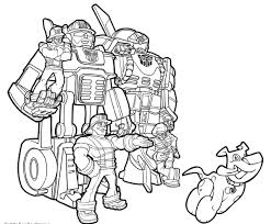 sampler rescue bots heatwave coloring page transformers chase and with bot