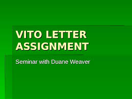 VITO LETTER ASSIGNMENT - Vancouver Island University PowerPoint  Presentation, Free Online Download PPT NRAXYS