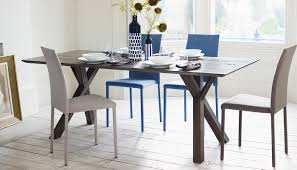 heals dining table oak. arbori table complemented by tego chairs in blue and sand mervyn gers tableware. heals dining oak n
