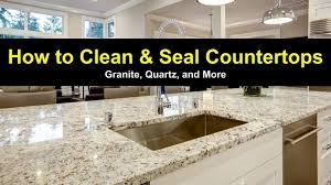disinfecting granite countertops how to clean and seal countertops granite quartz and more