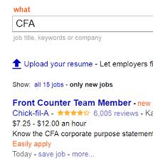 Cfa Candidate Resume Mesmerizing That Wasn't The Kind Of Job I Had In Mind Indeed CFA