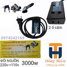 Bộ nguồn mạch cản 220v 110v 3000w( biến thế đổi điện 220v-110v) - Ổ cắm điện