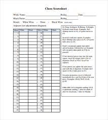 Sample Interview Score Sheet Simple 48 Sample Chess Score Sheets Sample Templates