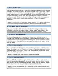 Job Interview Questions And Answers Elementary Teacher Interview Questions And Answers