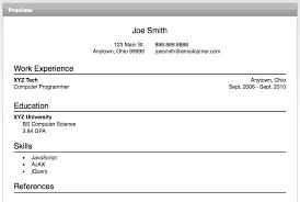 resume builder on word
