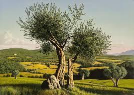 david ligare landscape painting italian landscape umbria