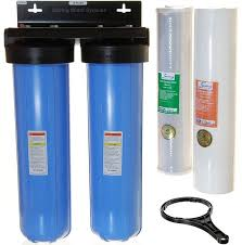 iSpring WGB22B 2 Stage 20 Inch Big Blue Whole House Water Filter