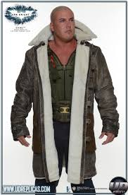 the dark knight rises bane replica leather trench coat image