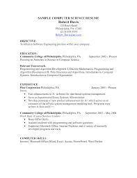 Resume For Computer Programmer Sarahepps Com