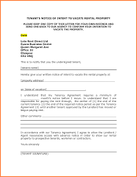 Notice To Vacate Property Template Notice Vacate Rental Property Template Standart Portrait Sample 4