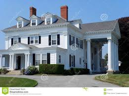 Houses With Columns large white house with columns stock images - image:  6180054