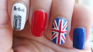 England Flag Nail Designs Uk Flag Nail Art Design Tutorial