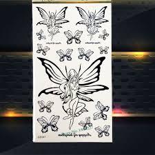4836 руб 10 скидкачерный фея бабочка временные татуировки для женщин поддельные