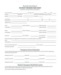 Emergency Contact Forms For Children Emergency Contact Form Template Word Best Of Printable List Fact