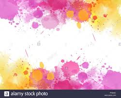 Colorful Designs Background With Colorful Watercolor Imitation Splash Blots