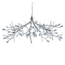 searchlight 10 halogen lights chrome crystal chandelier ceiling pendant light