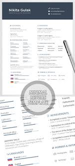 Free Minimalist Resume Template Free Minimalistic CVResume Templates With Cover Letter Template 16