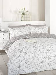 french bird toile duvet cover set taupe king by art co uk kitchen home