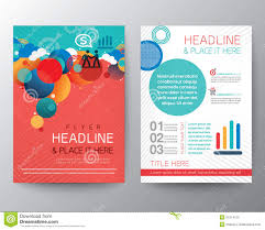 abstract circle design brochure flyer layout template stock vector abstract circle design brochure flyer layout template