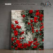 Tranh tô màu theo số HL0609 Tranh sơn dầu số hóa tự tô màu hoa cỏ ...