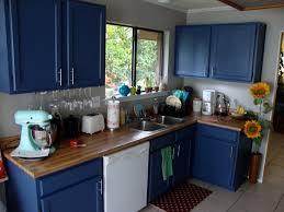 Lovable DIY Blue Kitchen Ideas Kitchen Cabinet Diy Painted Kitchen