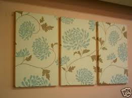 large fabric wall art blue duck egg brown triptych 3 piece cream funky floral retro designer on fabric wall art panels with wall art top 10 sample pictures fabric wall art fabric wall art