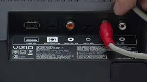 connecting vizio sound bar