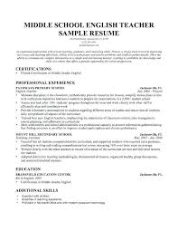 Teaching Sample Resume Teacher Resumes Reading Resume Best Ideas