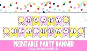 Free Mickey Mouse Template Download Printable Birthday Banner Template Free Happy Templates