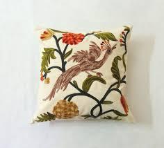 Pillowcase Handmade Jungle 24x24 Peacock Birds Bed Sofa